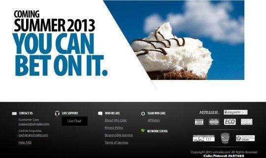 Новый сайт WinCake.com выглядит привлекательно