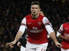 Оливье Жиру принял участие в трех последних голах «Арсенала» в ЛЧ