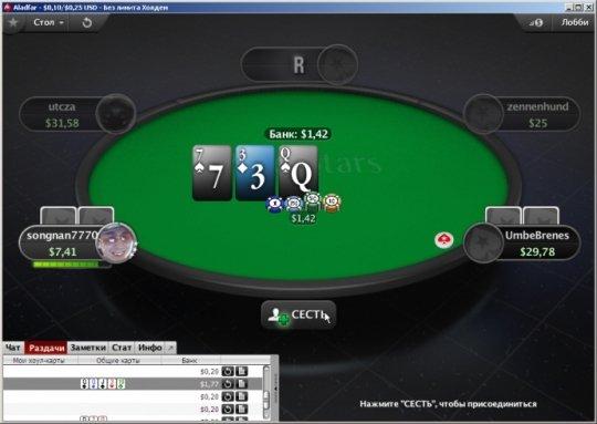 Оформление стола в PokerStars 7