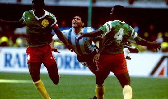 Камерунцы победили самого Марадону
