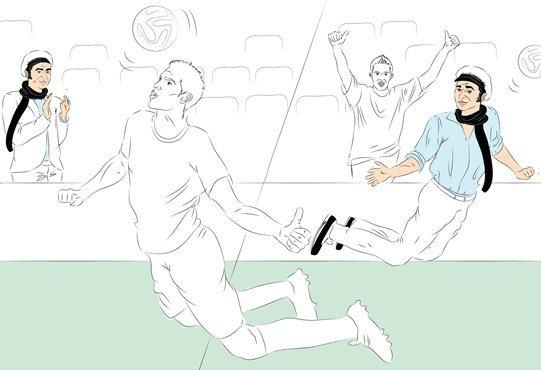 Фотокарточки: Робин ван Перси учит меня забивать чудо-гол