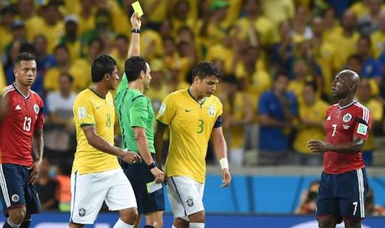 Именно эта желтая лишила капитана сборной Бразилии возможности сыграть в полуфинале против немцев