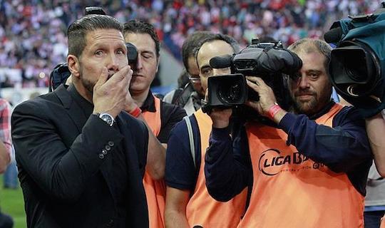 Диего Симеоне не смог сдержать слез, вернувшись на «Висенте Кальдерон» после дисквалификации