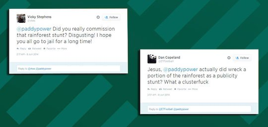 Твиттер букмекера пестрил такими записями от гневных борцов за экологию
