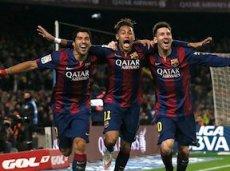 Атакующее трио каталонцев сделало результат в предыдущей встрече двух команд
