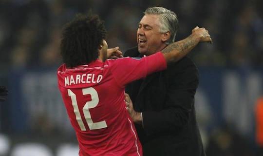 Карло Анчелотти поспешил поздравить Марсело с красивым голом