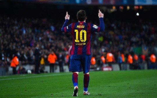 Месси празднует красивый гол в ворота «Альмерии»