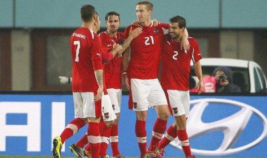 Австрийцы не затратили много сил в товарищеском матче