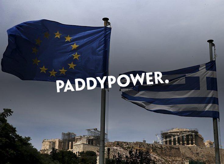 Paddy Power выплачивает заранее тем, кто ставил на отказ Греции от условий МВФ