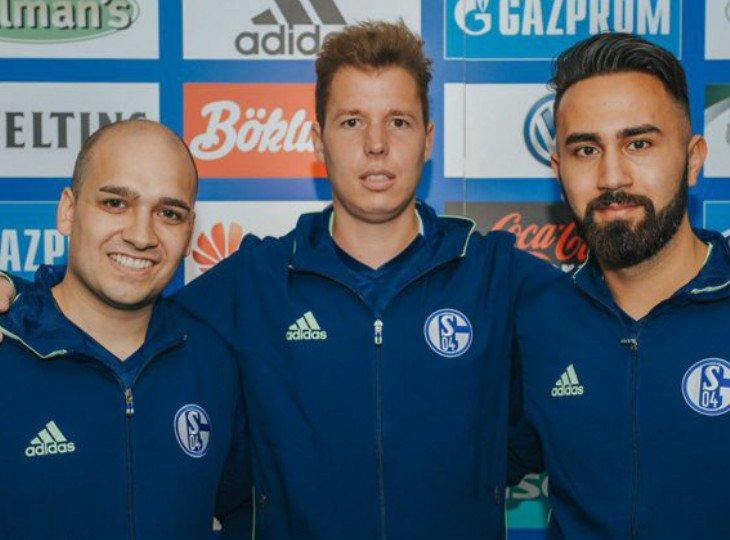 Киберспортсмены Бегер, Виска и Ясарлар будут играть за «Шальке». Фото: «Шальке»