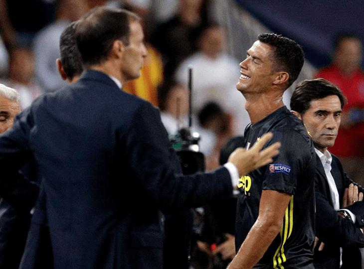 Роналду не забил пенальти «Кьево» и проиграл спор Аллегри
