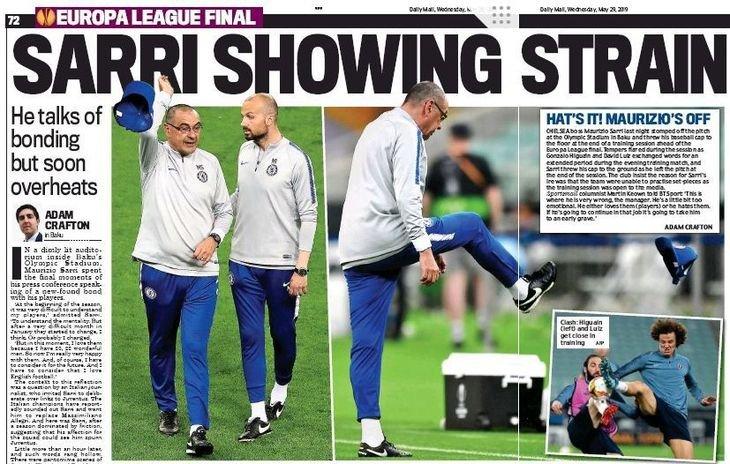 На тренировке «Челси» в Баку эмоции били через край