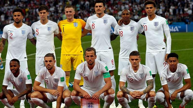 Английская команда по футболу н