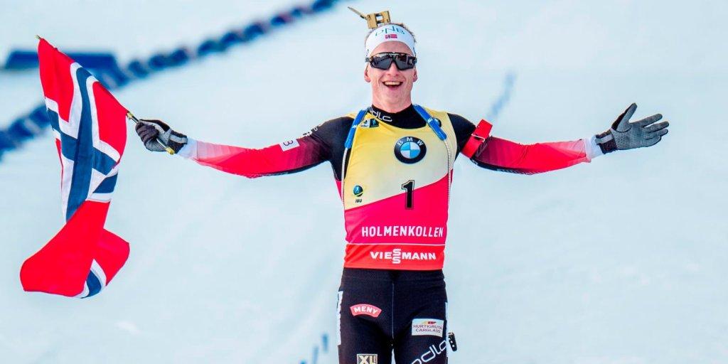 Сборная Норвегии выиграла смешанную эстафету