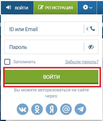 """Нажмите кнопку """"Войти"""" и авторизуйтесь на сайте"""