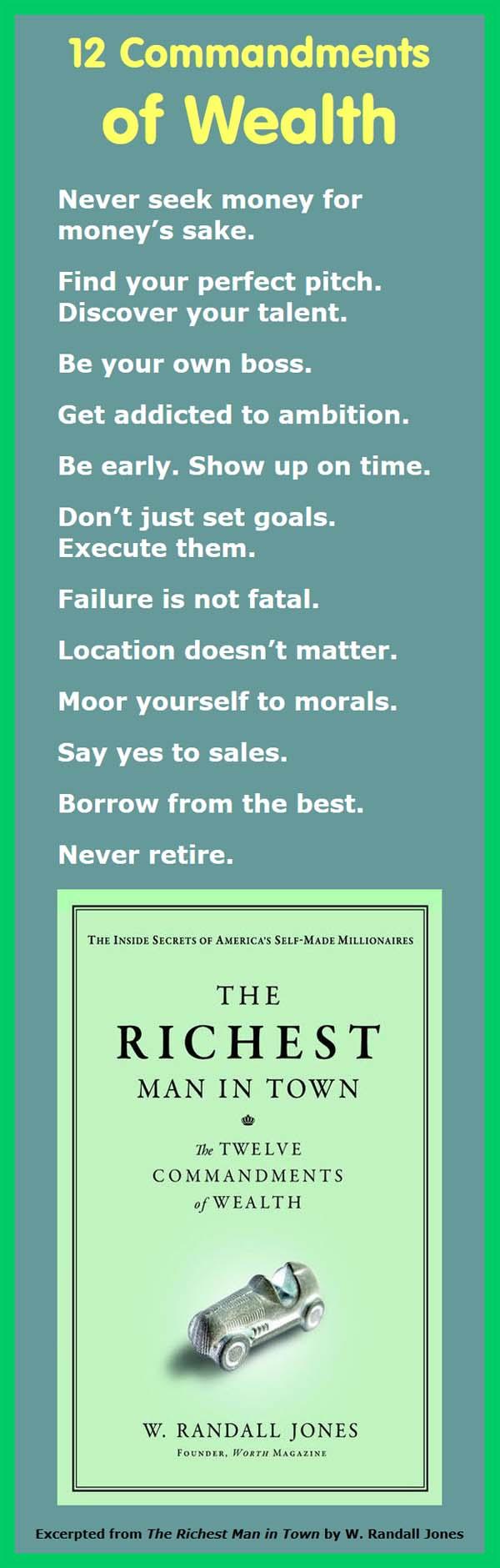12 Commandments of Wealth