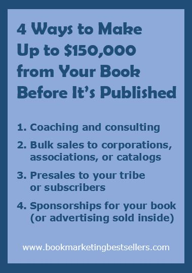 4 ways to make up to $150,000 with your book