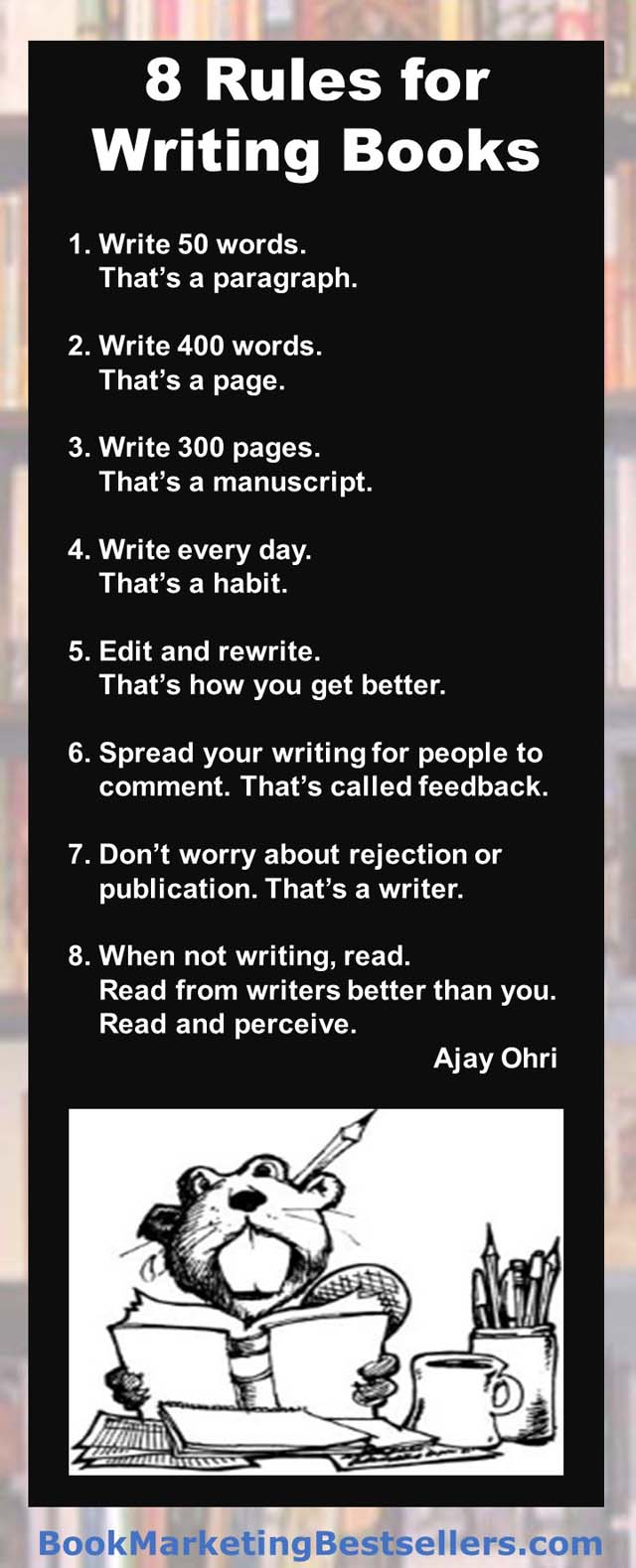 Rules for Writing Books