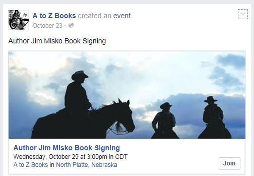 James Misko book signing at A to Z Books