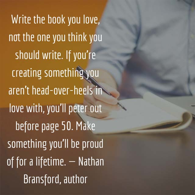 Nathan Bransford on writing books