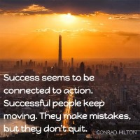 Conrad Hilton: Success Is Connected to Action