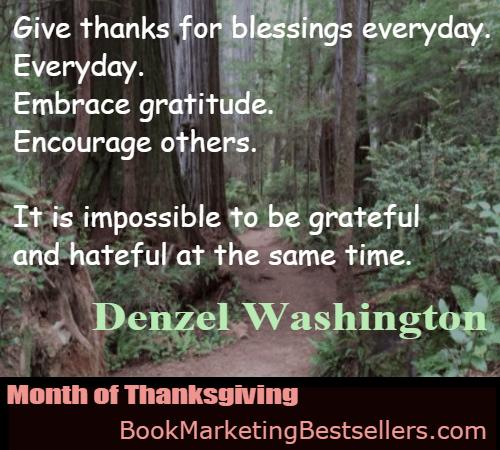Denzel Washington on Giving Thanks
