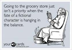 Grocery Store meme: Going to the grocery store just isn't a priority when the fate of a fictional character is hanging in the balance.