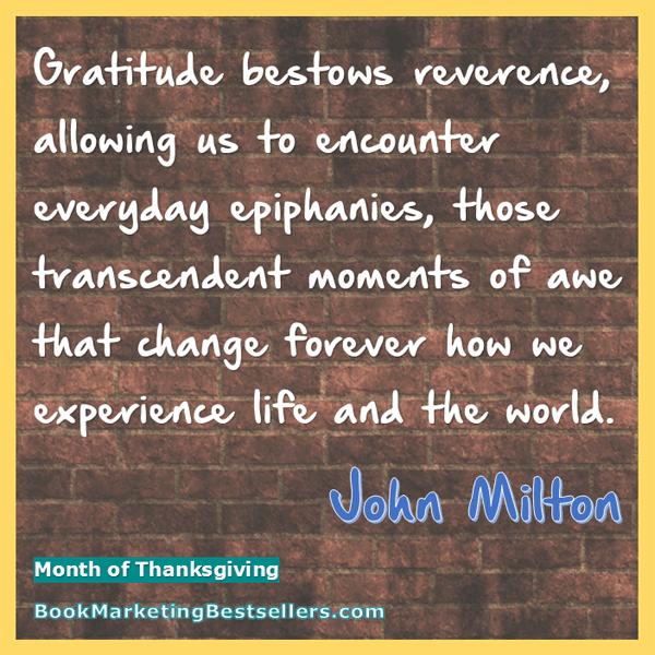 John Milton on Gratitude