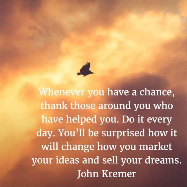 John Kremer on Thanking People