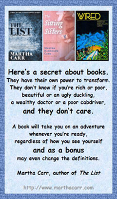 Martha Carr on A Secret About Books