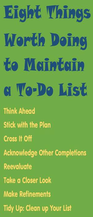 Jeffrey Davidson on To-Do Lists