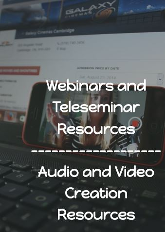 Webinar and Teleseminar Resources