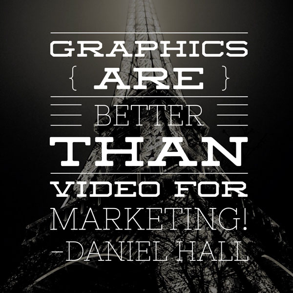 Graphics Are Better Than Videos