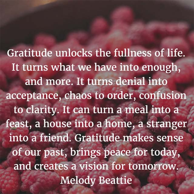 Melody Beatty on Gratitude