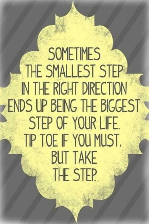 take the smallest step