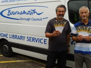 Haras and Bill from the Bournemouth Home Library Service
