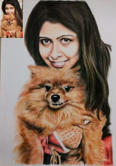 Handmade portrait painting