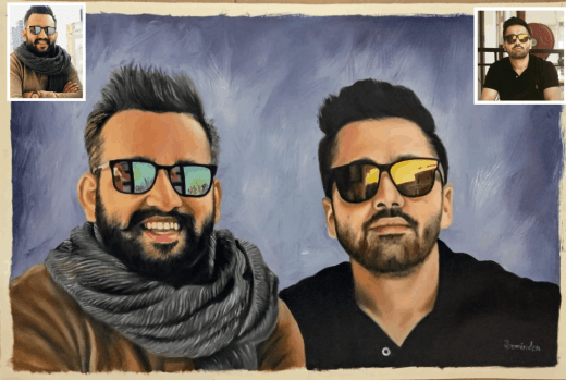 Hand-painted Oil Portraits for Best Buddies