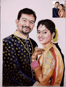 Color Pencil Sketch Wedding Gift