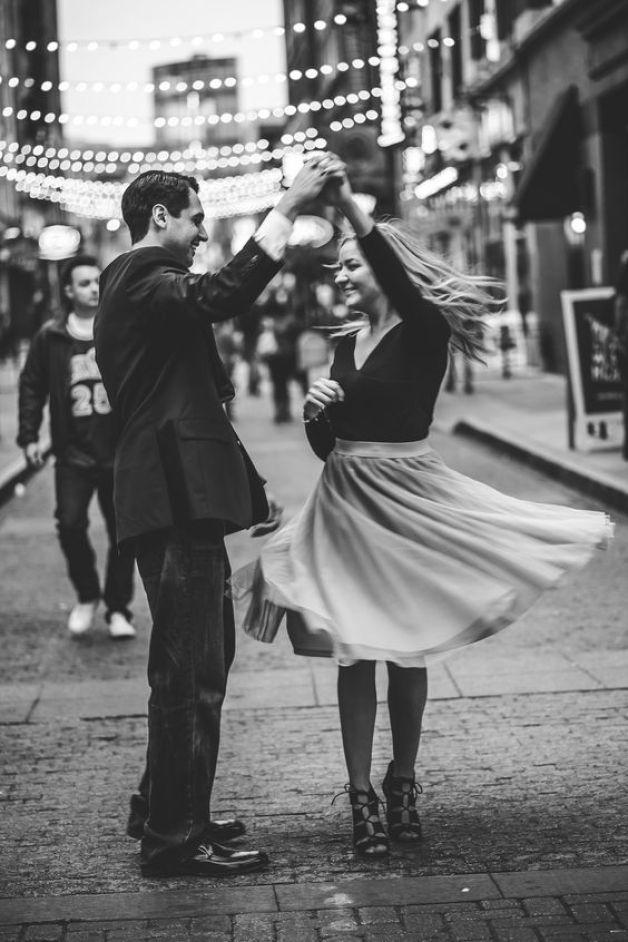Couple portrait dance