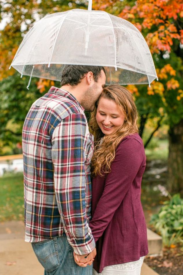 Couple portrait with umbrella