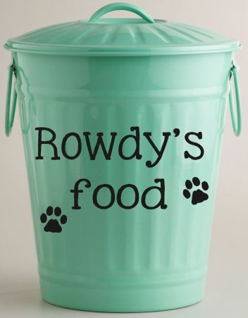 Custom Dog Food Storage Container