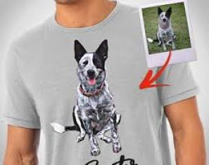 Customized Dog Picture Tees