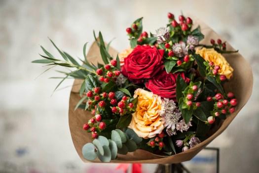 Bouquets as housewarming gift