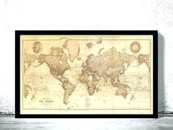 Deployment Map as military retirement gift