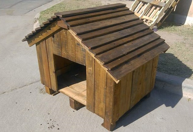 Recycled Wood Pallet Dog House (Dog House DIY)