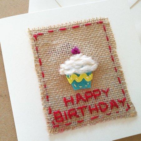 Woven Birthday Card