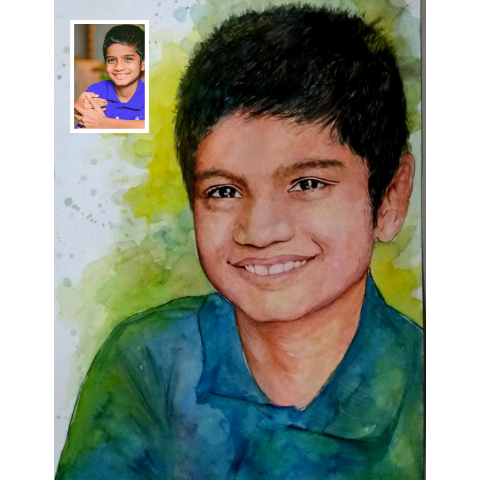 Watercolor Painting from Photo