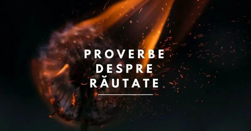 proverbe despre rautate