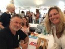 Alec Baldwin and Jennifer Blankfein of Book Nation by Jen